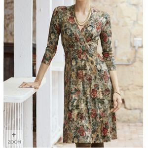 Peruvian Connection Fontanelle Floral Knee Dress